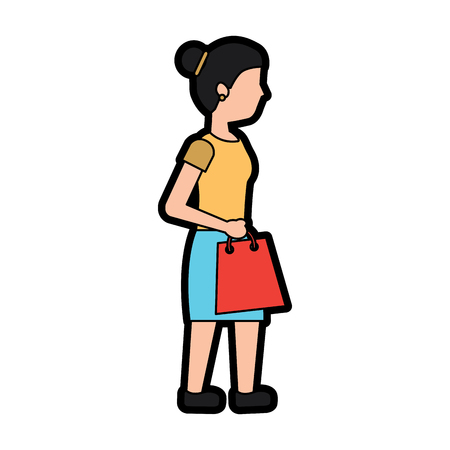 woman shopping icon image vector illustration design