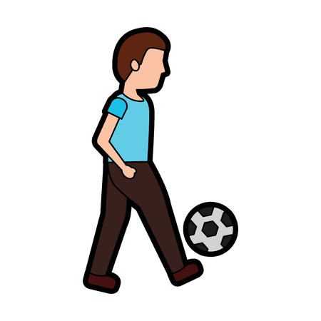 person playing soccer or football icon image vector illustration design  向量圖像