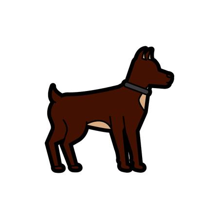 강아지 애완 동물 아이콘 이미지 벡터 일러스트 레이션