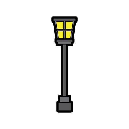Street lamp vintage icon image vector illustration