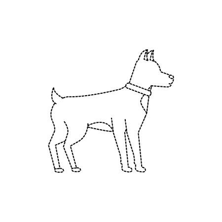 Hund Haustier Symbol Bild Vektor Illustration Design Standard-Bild - 91206440