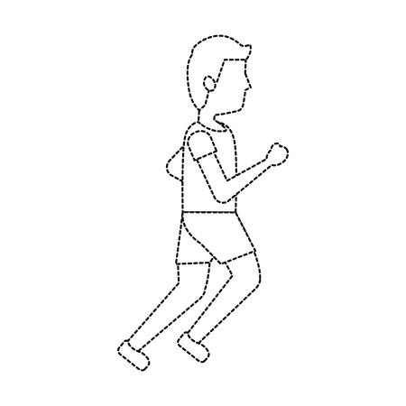 man avatar running or jogging icon image vector illustration design