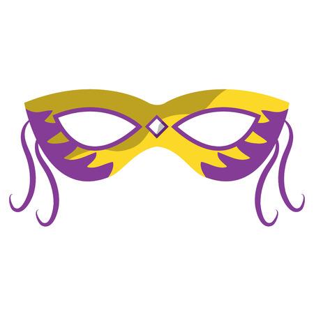 masker mardi gras carnaval pictogram afbeelding vector illustratie ontwerp Stock Illustratie
