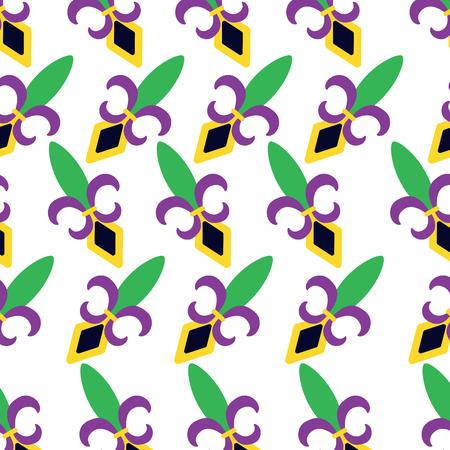 fleur de lis mardi gras carnival pattern image vector illustration design