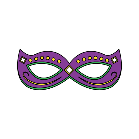 mardi gras mask with jewelry decoration festive vector illustration Stock Vector - 91214419