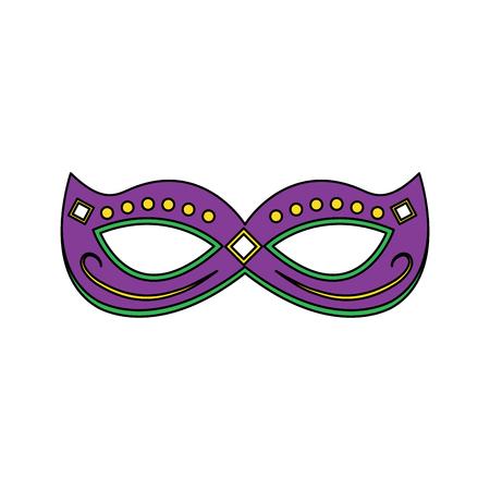 mardi gras mask with jewelry decoration festive vector illustration Illustration