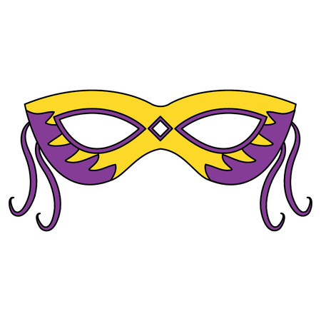 mask carnival for mardi gras party decoration vector illustration