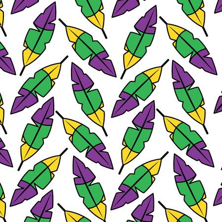 Penas de padrão sem emenda decoração enfeite ilustração vetorial Foto de archivo - 91209312