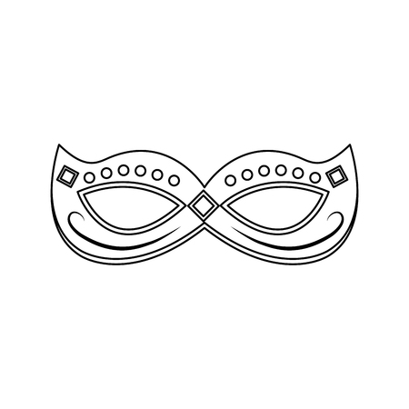 mardi gras mask with jewelry decoration festive vector illustration Ilustrace
