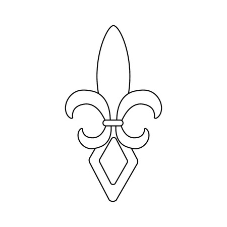 fleur de lis mardi gras festival carnival symbol vector illustration