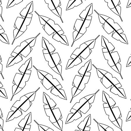 Penas de padrão sem emenda decoração enfeite ilustração vetorial Foto de archivo - 91209068