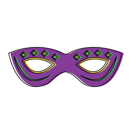 Mardi gras mask with jewelry decoration festive vector illustration.