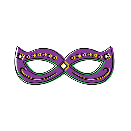 Mardi gras mask with jewelry decoration festive vector illustration Ilustracja