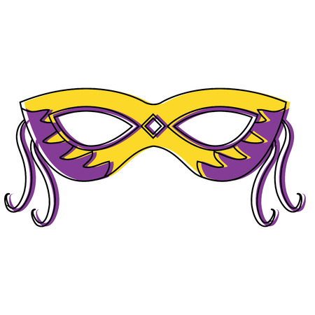 mask carnival for mardi gras party decoration vector illustration Stock Vector - 91255611