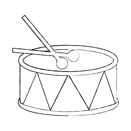 drum and sticks music instrument percussie vector illustratie