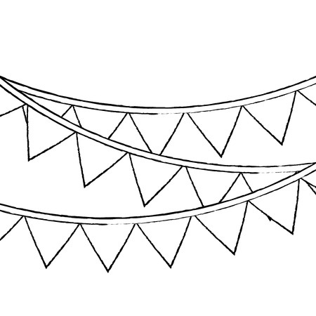 garland pennant banner decoration ornament vector illustration