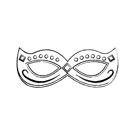 Maschera di martedì grasso con l'illustrazione festiva di vettore della decorazione dei gioielli Archivio Fotografico - 91210773