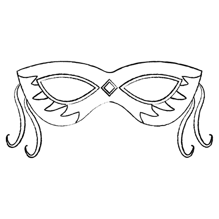 mask carnival for mardi gras party decoration vector illustration Stock Vector - 91210787