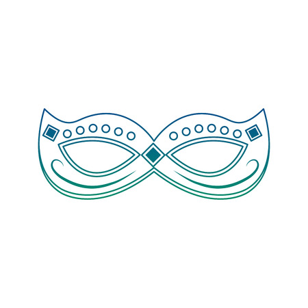 mardi gras mask with jewelry decoration festive vector illustration Illustration