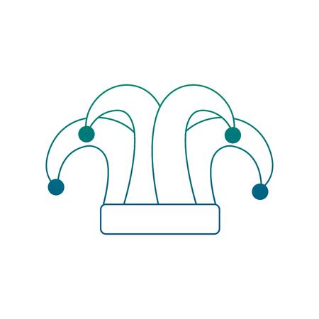 mardi gras jester hat decoration design vector illustration