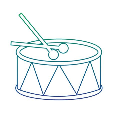ドラムとスティック楽器パーカッションベクトルイラスト  イラスト・ベクター素材
