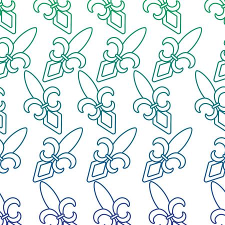 fleur de lis mardi gras carnival symbol vector illustration