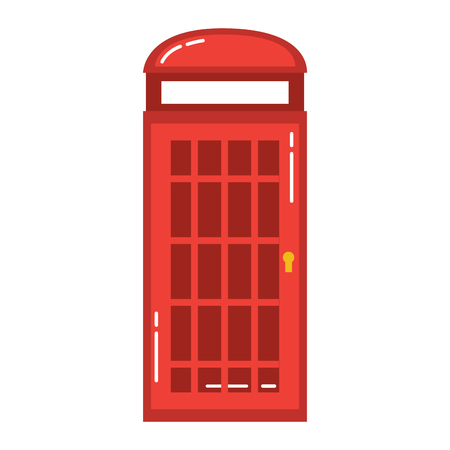 london telephone booth public traditional vector illustration Illustration