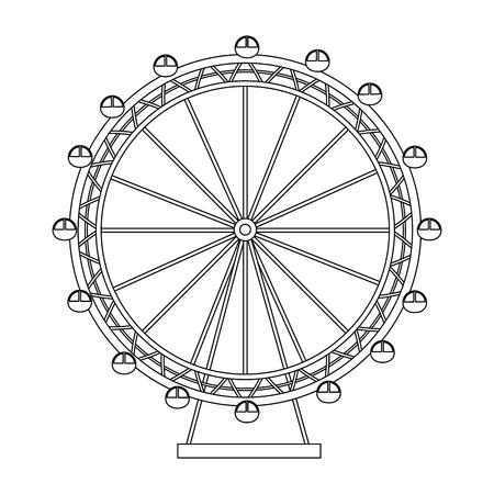 観覧レクリエーション アドベンチャー ランドマーク ベクトル図  イラスト・ベクター素材