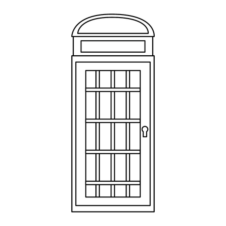 london telephone booth public traditional vector illustration Illusztráció