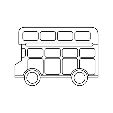 london double decker bus public transport vector illustration  イラスト・ベクター素材