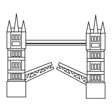 런던 타워 브릿지 영국 왕국 랜드 마크 벡터 일러스트 레이션
