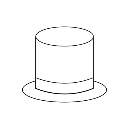 top hat accessory elegance fashion vector illustration Vettoriali