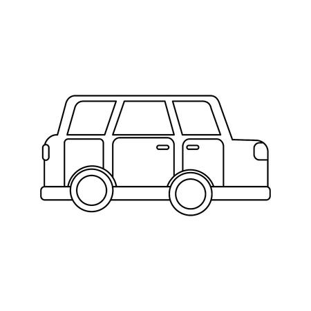 car vehicle transport classic automobile vector illustration Ilustração