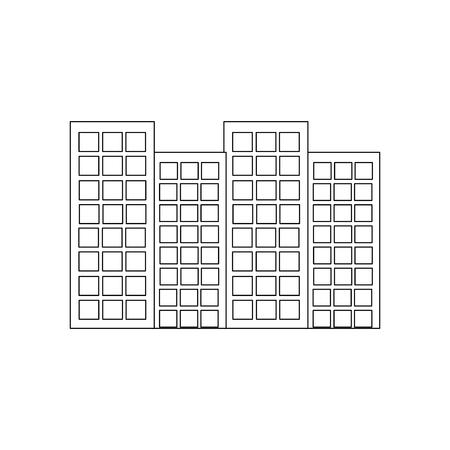 building city urban tower architecture vector illustration Ilustrace