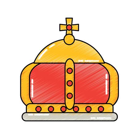 女王君主制の英国王冠古典的な雄大なベクトルイラスト
