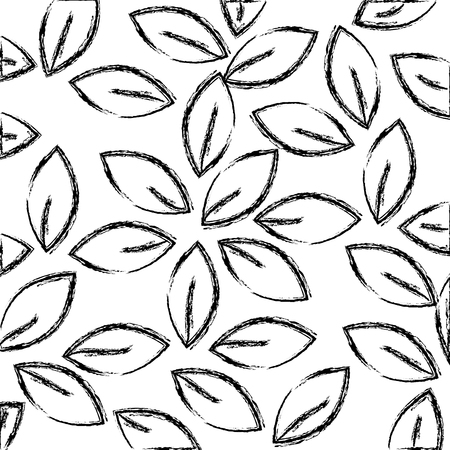 leafs crown pattern background vector illustration design