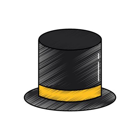 top hat accessory elegance fashion vector illustration Illustration