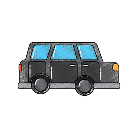 car vehicle transport classic automobile vector illustration Ilustração