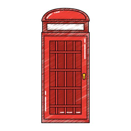 Londen telefooncel openbare traditionele vectorillustratie