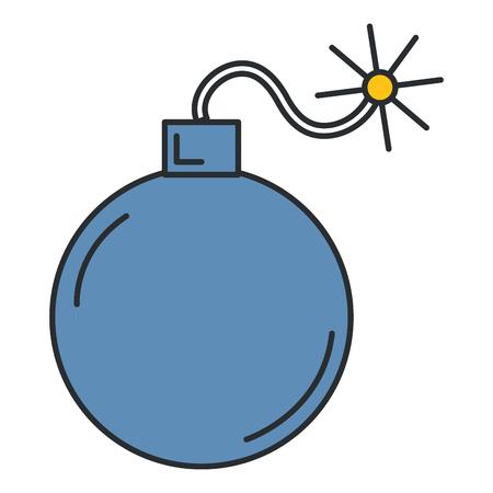 Explosive Bombe isoliert Symbol Vektor-Illustration , Design , Standard-Bild - 91218656