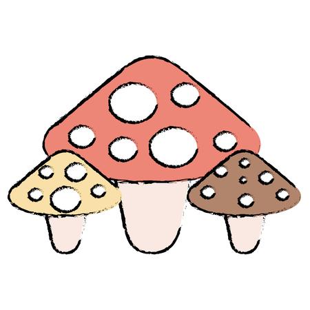 cute fungus isolated icon vector illustration design
