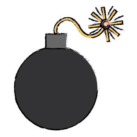 폭발성 폭탄 격리 된 아이콘 벡터 일러스트 레이 션 디자인