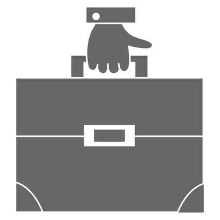 포트폴리오 서류 가방 벡터 일러스트 디자인 사업가 손 일러스트