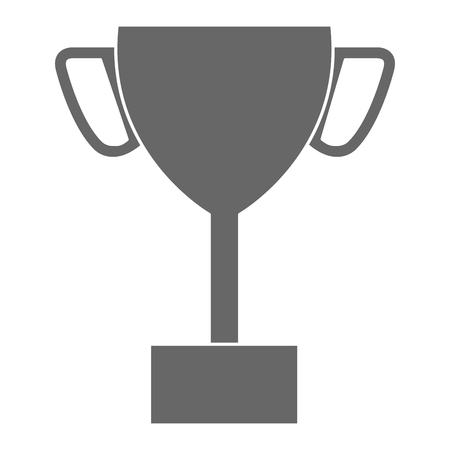 trophy cup isolated icon vector illustration design Illusztráció