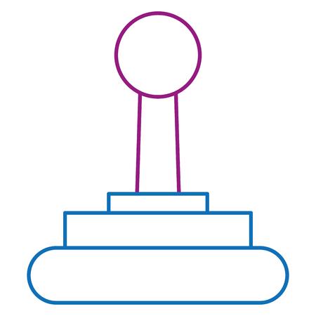 video game joystick icon vector illustration design