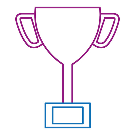 Trophy cup isolated icon.