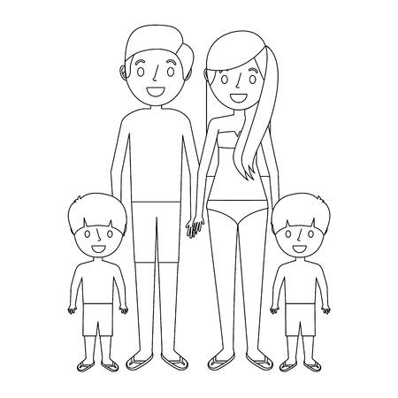 165 Family Fun Splash Beach Stock Illustrations Cliparts And
