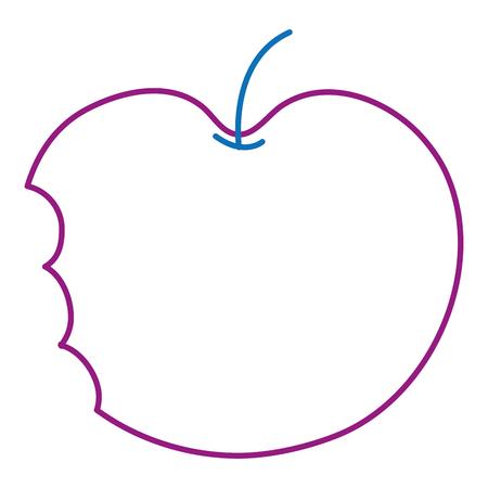 Bitten apple icon. Ilustração