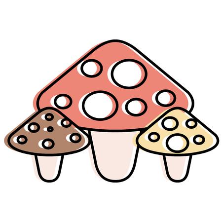 Cute fungus isolated icon vector illustration design Stock fotó - 91230462