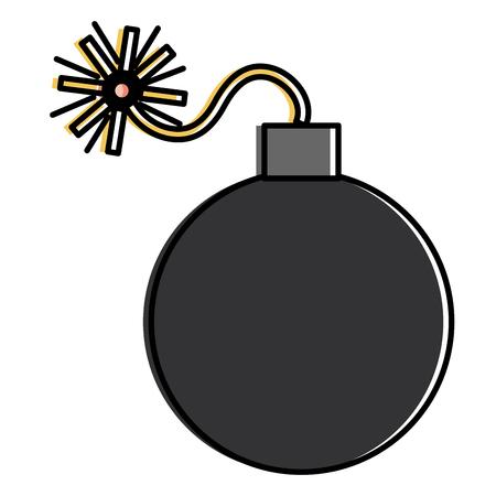 Explosive Bombe isoliert Symbol Vektor-Illustration , Design , Standard-Bild - 91230590